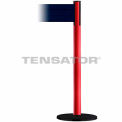 Wide Webbing Tensabarrier Dark Blue Belt - Red