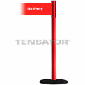 "Wide Webbing Tensabarrier Red Belt - ""No Entry"" - Red"