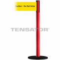 """Wide Webbing Tensabarrier Yellow Belt """"Caution Do Not Enter"""" - Red"""
