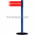 "Wide Webbing Tensabarrier Red Belt ""Authorized Access Only"" - Blue"