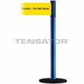 """Wide Webbing Tensabarrier Yellow Belt """"Caution Do Not Enter"""" - Blue"""