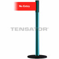 "Wide Webbing Tensabarrier Red Belt - ""No Entry"" - Green"