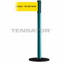 """Wide Webbing Tensabarrier Yellow Belt """"Caution Do Not Enter"""" - Green"""