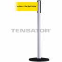 """Wide Webbing Tensabarrier Yellow Belt """"Caution Do Not Enter"""" - White"""