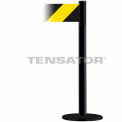 Wide Webbing Tensabarrier Black and Yellow Diagonal Striped,