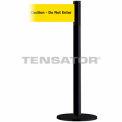 """Wide Webbing Tensabarrier Yellow Belt """"Caution-Do Not Enter"""" - Black"""