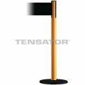 Wide Webbing Tensabarrier Black Belt - Yellow