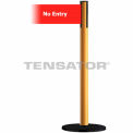 "Wide Webbing Tensabarrier Red Belt - ""No Entry"" - Yellow"