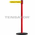 """Slimline Tensabarrier Yellow Belt """"Cleaning In Progress"""" - Red"""