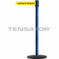 """Slimline Tensabarrier Yellow Belt """"Cleaning In Progress"""" - Blue"""