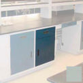 "Lab Base Cabinet 24""W x 22-1/2""D x 35-3/4""H, 1 Drawer, 1 Cupboard Door, W/1 Adj Shelf, Stone Gray"