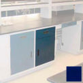 "Lab Base Cabinet 24""W x 22-1/2""D x 35-3/4""H, 1 Drawer, 1 Cupboard Door, W/1 Adj Shelf, Navy Blue"