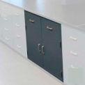 "Lab Base Cabinet 35""W x 22-1/2""D x 35-3/4""H, 2 Drawers, 2 Cupboard Doors, W/1 Shelf, Stone Gray"