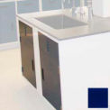 """Lab Base Cabinet Sink Base 58""""W x 22-1/2""""D x 35-3/4""""H, Louvered Panels W/2 Cupboard Doors, Navy Blue"""
