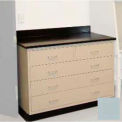 "Lab Base Cabinet 35""W x 22-1/2""D x 35-3/4""H, 2 Drawers & 3 Full Width Drawers, Model Gray"