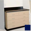 "Lab Base Cabinet 35""W x 22-1/2""D x 35-3/4""H, 2 Drawers & 3 Full Width Drawers, Navy Blue"