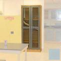 "Lab Wall Freestanding Cabinet 35""W x 18""D x 84-1/4""H, 2 Glass Doors, 5 Adj Shelves, Model Gray"