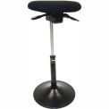 ShopSol Sit Stand Task Stool - Fabric - Black