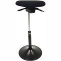ShopSol Sit Stand Task Stool - Fabric - Black