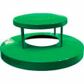 32 Gallon Dome Bonnet Lid - Green