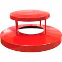 32 Gallon Dome Bonnet Lid - Red