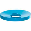 32 Gallon Concave Metal Lid - Blue