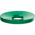 32 Gallon Concave Metal Lid - Green