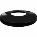 32 Gallon Convex Metal Lid - Black