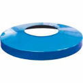 32 Gallon Convex Metal Lid - Blue