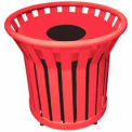 22 Gallon Welded Receptacle With Metal Lid - Red