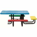 "46"" Perforated Square Picnic Table Portable Mount, 3 Seats-Child's Size"