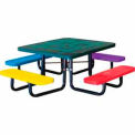 "46"" Perforated Square Picnic Table Surface Mount, Child's Size - Multi Colors"