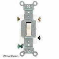 Leviton 1223-ST 20A, 120/277V, 3-Way AC Quiet Switch, Light Almond