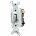 Leviton 1224-S 20A, 120/277V, 4-Way AC Quiet Switch, Grounding, Brown