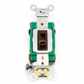 Leviton 3031-2L 30A, 120/277V, Single-Pole AC Quiet Switch, Brown