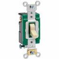 Leviton 3033-2 30A, 120/277V, 3-Way AC Quiet Switch, Self Grounding, Brown