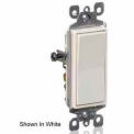Leviton 5601-2W 15A, 120/277V, Decora Rocker Single Pole AC Quiet Switch, White