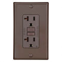 Leviton GFNT2 Self-Test SmartlockPro Slim GFCI Non-TR Receptacle, LED Indicator, 20A, Brown