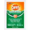 OFF® Deep Woods Insect Repellent Towels, 25% DEET, 12 Towels/Box, 12 Boxes/Case - 611072