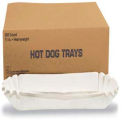 "Hoffmaster HFM 610740 - Fluted Hot Dog Trays, Heavy Weight Paper, 6""W X 2""D X 2""H, White, 3,000 ct"