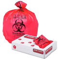 """Health Care """"Biohazard"""" Printed Waste Liners, 1.3 mil, 24"""" x 32"""", Red, 250/Carton"""