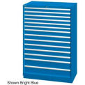 "Lista 40-1/4""W  Cabinet, 14 Drawer, 222 Compart - Classic Blue, Master Keyed"