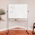 "Luxor® 48""W X 36""H Mobile Reversible Magnetic Whiteboard"