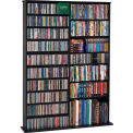 Open Wall Multimedia Storage Rack Black, 1000 CDs/408 DVDs