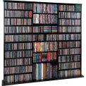 Open Wall Multimedia Storage Rack Black, 1500 CDs/612 DVDs
