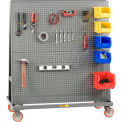 "Little Giant® Mobile 2-Sided Pegboard Lean Tool Rack, 60""W x 24""D"