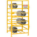 "Little Giant® Horizontal, 12 Cylinder, Industrial Gas Cylinder Cage, 36""W x 48""D x 70""H"