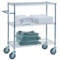 """R&B Wire Products UC1836 Mobile Linen Cart with 3 Wire Shelves, 36""""L x 18""""W x 42""""H"""