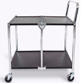 Luxor Two Shelf Collapsible Metal Cart