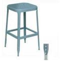"Lyon® All-Welded Stool with Steel Seat - Steel Glide Feet 30""H Dove Gray"